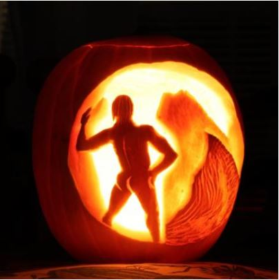 "Yes, this is JAMMF---""A Pumpkin Homage to The Exile,"" carved by Bri @ Bluemoonmagnolia.wordpress.com"