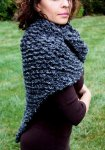 """Hand Knit Outlander Inspired Claire's Shawl Wrap Shoulder Warmer in Gray"""