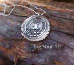 OUTLANDER fine silver wax seal pendant - Je Suis Prest - Fraser Clan Motto
