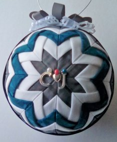4 inch diameter Outlander Inspired ornament. Silver C, heart, J initials.