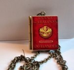 Outlander Diana Gabaldon,Book,Locket Pendant with an antique chain Handmade