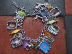 Outlander inspired charm bracelet 23 charms Jamie, Claire,Dragonfly inAmber