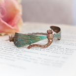 Outlander Inspired Dragonfly Brass Bracelet