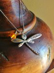 "Hand Stamped ""Sassenach"" Dragonfly necklace - Outlander"