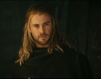 Chris Hemsworth from the Thor 2 movie trailer