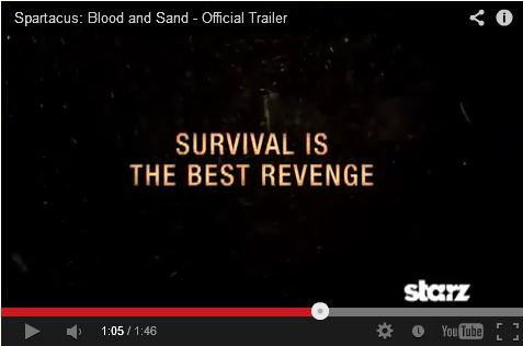 Screenshot from Spartacus, Blood & Sand trailer