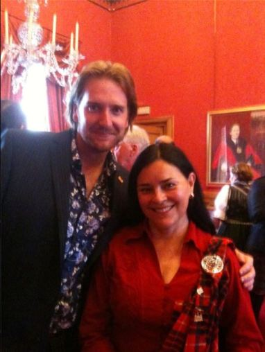 Allan Scott Douglas & Diana Gabaldon at the Lord Provost of Aberdeen's Civic Reception to conclude Tartan Day, 2011.