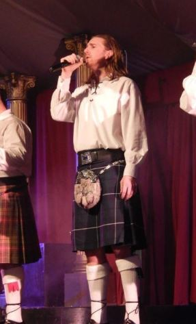 ASD singing in kilt